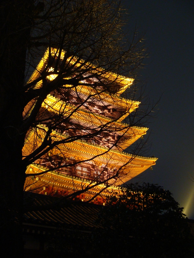 Beautiful pagoda of Sensō-ji (金龍山浅草寺) Temple in Asakusa, Tokyo.