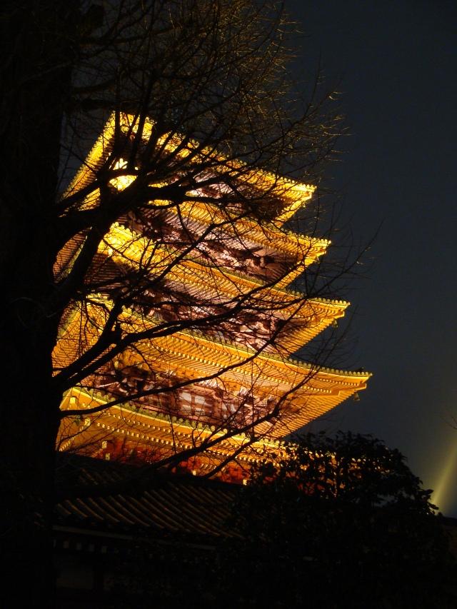 Beautiful pagoda of Sensō-ji (金龍山浅草寺) Temple in Asakusa, Tokyo.